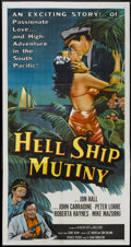"Movie Posters:Adventure, Hell Ship Mutiny (Republic, 1957). Three Sheet (41"" X 81"").Adventure...."
