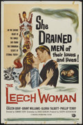 "Movie Posters:Horror, The Leech Woman (Universal, 1960). One Sheet (27"" X 41""). Horror...."