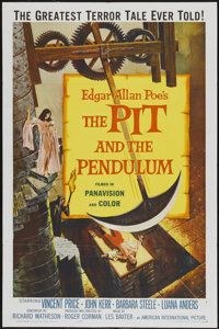 "The Pit and the Pendulum (American International, 1961). One Sheet (27"" X 41""). Horror"