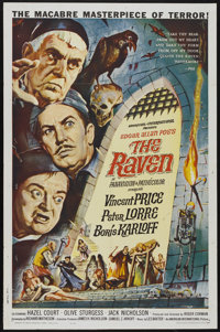 "The Raven (American International, 1963). One Sheet (27"" X 41""). Horror"