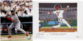 Autographs:Photos, Albert Pujols Signed Photograph with Signed Lithograph. Perhaps theman with the most-feared bat in all of the majors at th...
