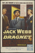 "Movie Posters:Crime, Dragnet (Warner Brothers, 1954). One Sheet (27"" X 41""). Crime...."