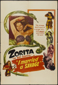 "Movie Posters:Adventure, I Married a Savage (Classic Pictures, 1949). One Sheet (27"" X 41"").Adventure...."