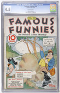 Platinum Age (1897-1937):Miscellaneous, Famous Funnies #10 (Eastern Color, 1935) CGC VG+ 4.5 Off-whitepages....