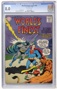 World's Finest Comics #87 (DC, 1957) CGC VF 8.0 Off-white pages