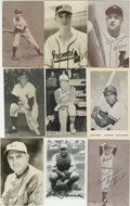 Autographs:Photos, Group of Autographed Photographs Including Cronin/Klein/Snider/Coveleski and others Lot of 17. A lot of seventeen black an...