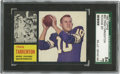 Football Cards:Singles (1960-1969), 1962 Topps Football Fran Tarkenton #90 SGC NM 84. Short-print rookie offering from the 1962 Topps issue features Hall of Fa...