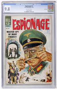 Espionage #1 File Copy (Dell, 1964) CGC NM/MT 9.8 Off-white pages