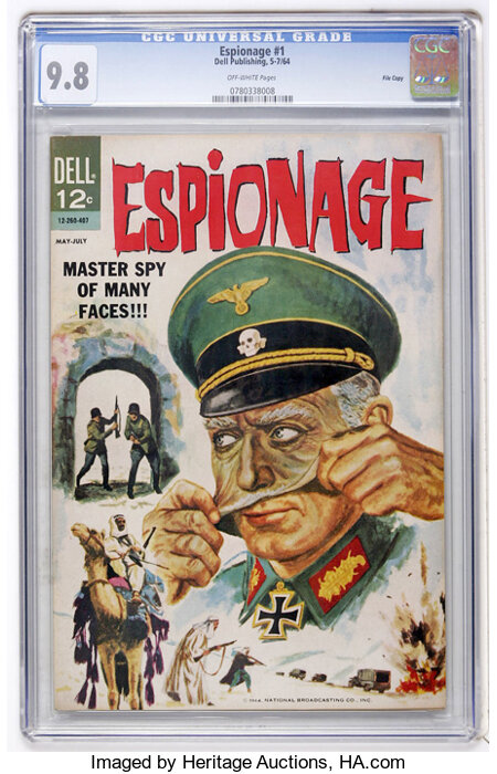Espionage #1 File Copy (Dell, 1964) CGC NM/MT 9.8 Off-white pages....