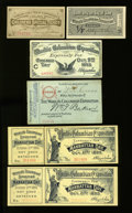 Expositions and Fairs, World's Columbian Exposition Special Admission Tickets 1893. ...(Total: 6 items)