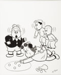 Original Comic Art:Covers, Irving Tripp - Little Lulu Library Set II Slipcase CoverIllustration Original Art (Another Rainbow, 1991). ...