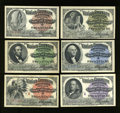 Expositions and Fairs, Six World's Columbian Exposition Admission Tickets 1893. ... (Total: 6 notes)