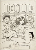 Original Comic Art:Covers, Guy Colwell - Doll #5 Cover Original Art (Rip Off Press, 1990)....