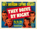 "Movie Posters:Drama, They Drive by Night (Warner Brothers, 1940). Title Lobby Card (11""X 14"")...."