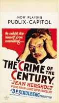 "Movie Posters:Mystery, The Crime of the Century (Paramount, 1933). Midget Window Card (8""X 14"")...."