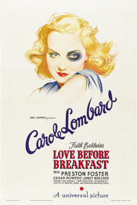 "Love Before Breakfast (Universal, 1936). One Sheet (27"" X 41"")"