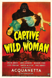 "Captive Wild Woman (Universal, 1943). One Sheet (27"" X 41"")"