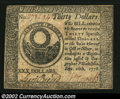 Colonial Notes:Continental Congress Issues, Contiental Currency September 26, 1778 $30 About New. The ...