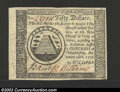 Colonial Notes:Continental Congress Issues, Contiental Currency September 26, 1778 $50 Choice New. ...