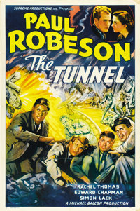 """The Tunnel (Supreme, 1940). One Sheet (27"""" X 41"""")"""