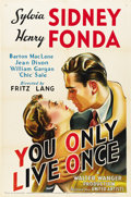 "Movie Posters:Film Noir, You Only Live Once (United Artists, 1937). One Sheet (27"" X41"")...."