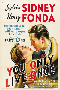 "You Only Live Once (United Artists, 1937). One Sheet (27"" X 41"")"