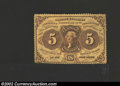 Fractional Currency:First Issue, First Issue 5c, Fr-1228, Choice-Gem CU. This is a rather ...