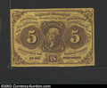 Fractional Currency:First Issue, First Issue 5c, Fr-1230, AU. Some light handling and a corner ...