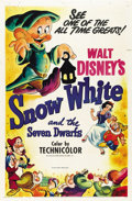 "Movie Posters:Animated, Snow White and the Seven Dwarfs (RKO, R-1951). One Sheet (27"" X41"")...."