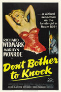 "Movie Posters:Thriller, Don't Bother to Knock (20th Century Fox, 1952). One Sheet (27"" X41"")...."