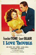 "Movie Posters:Mystery, I Love Trouble (Columbia, 1948). One Sheet (27"" X 41"")...."