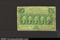 Fractional Currency:First Issue, First Issue 50c, Fr-1312, VG+. This type variety has straight ...
