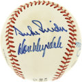 Autographs:Baseballs, Pee Wee Reese, Duke Snider, and Don Drysdale Multi-Signed Baseball.Three of the Hall of Fame greats of the Dodgers organiz...