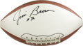 Football Collectibles:Balls, Jim Brown Single Signed Football. Dominant Hall of Fame running back Jim Brown is esteemed as one of the strongest, most po...