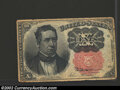 Fractional Currency:Fifth Issue, Fifth Issue 10c, Fr-1265, XF. This long key variety note is ...