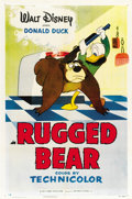"Movie Posters:Animated, Rugged Bear (RKO, 1953). One Sheet (27"" X 41"")...."