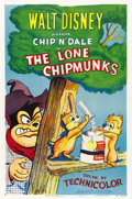 "Movie Posters:Animated, The Lone Chipmunks (RKO, 1954). One Sheet (27"" X 41"")...."