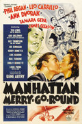 "Movie Posters:Comedy, Manhattan Merry-Go-Round (Republic, 1937). One Sheet (27"" X 41"")...."