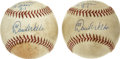 Autographs:Baseballs, David Wells 20th Win Game Used Single Signed Baseballs Lot of 2.The year 2000 saw major league pitcher David Wells get 20 ...