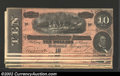 Confederate Notes:1864 Issues, A seven piece lot of T-68 1864 $10s, consisting of a nice ...