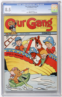 Our Gang #9 (Dell, 1944) CGC VF+ 8.5 Cream to off-white pages