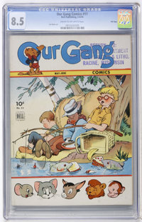 Our Gang #11 File Copy (Dell, 1944) CGC VF+ 8.5 Cream to off-white pages