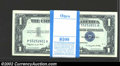 Small Size:Silver Certificates, Pack of 100 consecutive 1957A $1 Silver Certificates, Fr-1620, ...