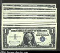 Small Size:Silver Certificates, Twelve consecutive 1957A $1 Silver Certificates, Fr-1620, ...