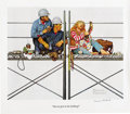 "Autographs:Artists, Norman Rockwell Signed Print ""You've Got to be Kidding""...."