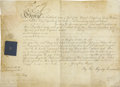 Autographs:Non-American, King George IV of the United Kingdom Document Signed...