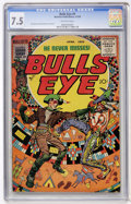 Golden Age (1938-1955):Western, Bulls Eye #5 (Mainline Publications, 1955) CGC VF- 7.5 Off-whitepages....