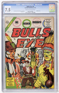 Golden Age (1938-1955):Western, Bulls Eye #6 (Charlton, 1955) CGC VF- 7.5 Cream to off-whitepages....