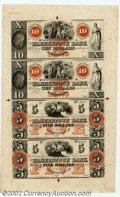Obsoletes By State:Maryland, 18-- Uncut Sheet $5-$5-$10-$10 Hagerstown Bank, Hagerstown, MD,...