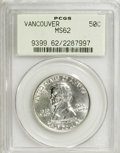 Commemorative Silver: , 1925 50C Vancouver MS62 PCGS. . PCGS Population (198/2527). NGCCensus: (80/1828). Mintage: 14,994. Numismedia Wsl. Price f...